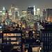 Urban Density, Lower Manhattan from NoHo at Night, New York City