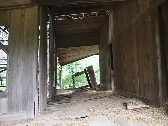 Abandoned dogtrot house.
