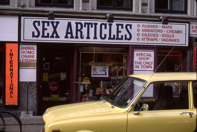 Sex Articles. Sex shop in what I'm assuming is Amsterdam during the swinging ...
