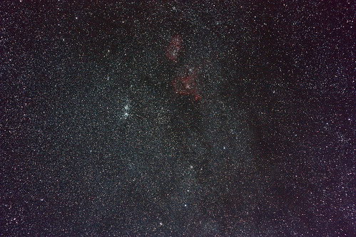 Milky way / Perseus Double Cluster / Heart and Soul nebulae