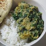 Dal w/ Naan, white rice [vegan]
