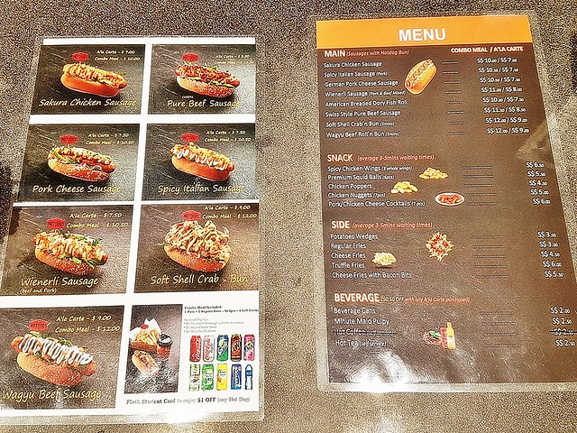 Hotdogs Inc Menu