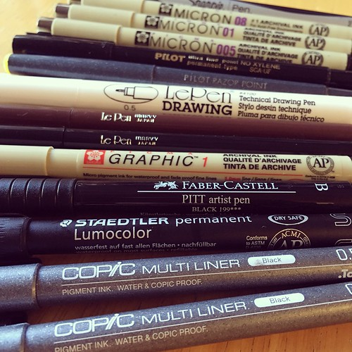 My drawing pen collection just grew by six more. Do you have a favorite pen??