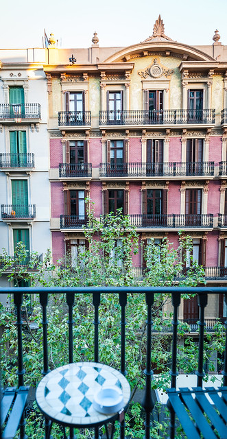 Our balcony in Barcelona.
