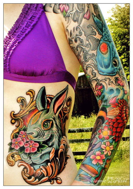 Chinese Zodiac Rabbit Tattoo