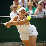 Marion Bartoli at full stretch