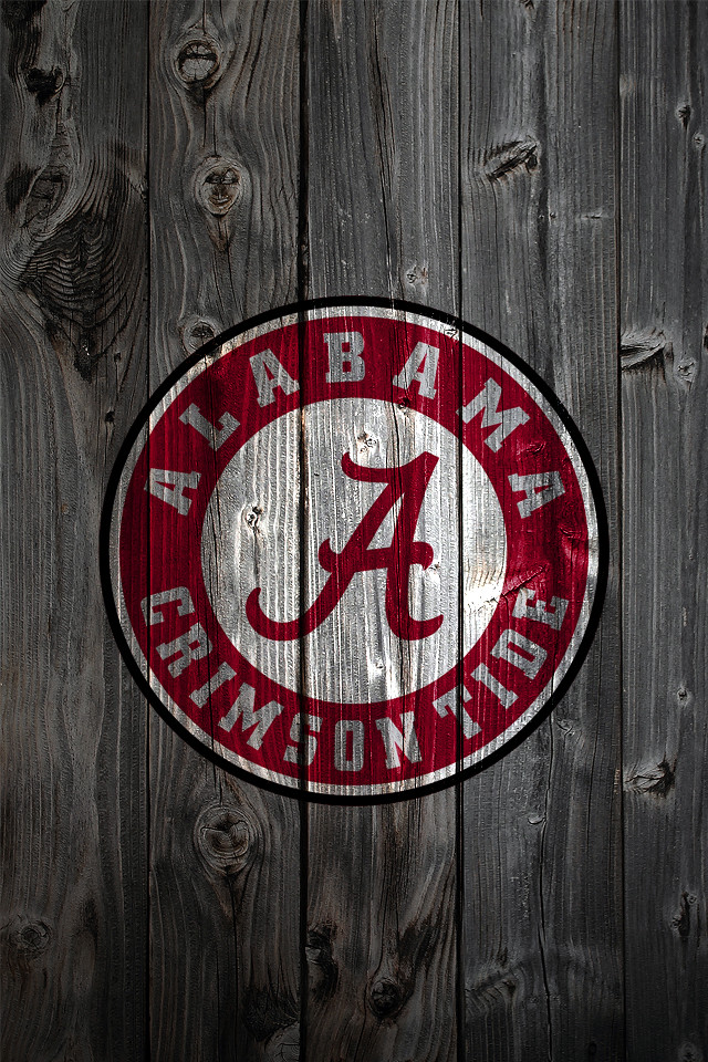 Alabama Crimson Tide Wood iPhone 4 Background
