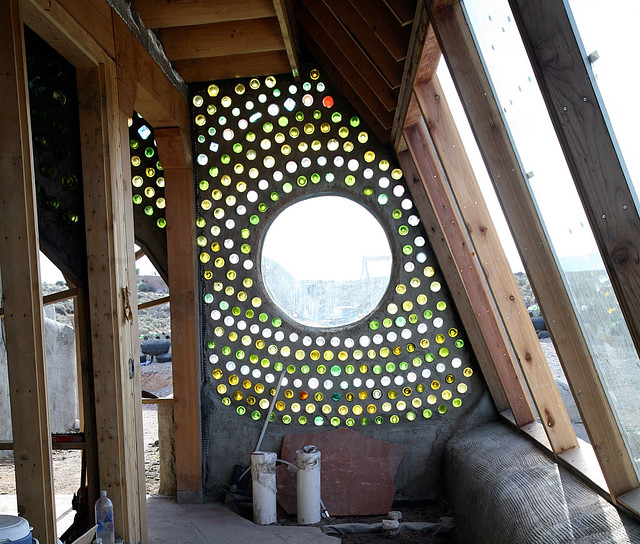 Bottle Wall Explore Earthship Biotecture S Photos On