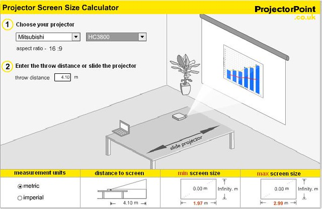 projection screen calculator Crystal rear is a specialised rear projection screen material, ideal if you require the projector to sit behind the screen this semi translucent material is flexible, and is suitable for tensioned applications.