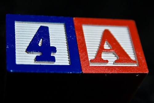 4 A Alphabet Blocks Red White Blue Macro July 05, 201017