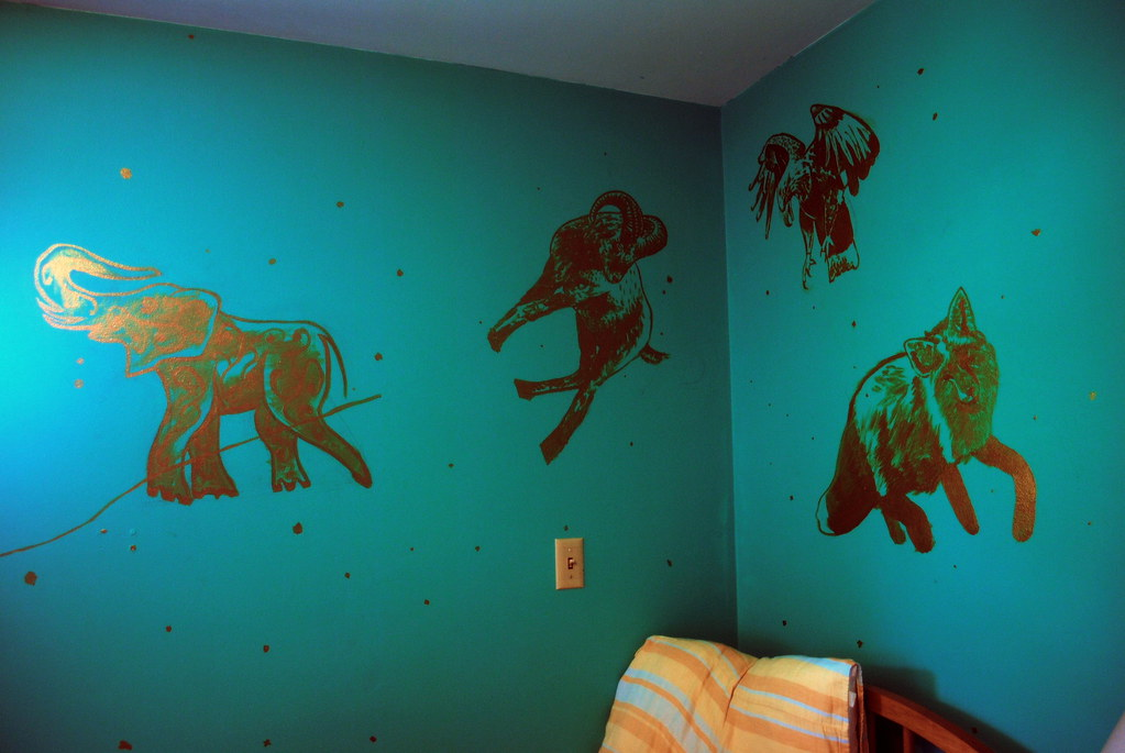 Painting on her wall