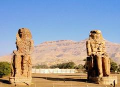 Egypt. Colossi of Memnon