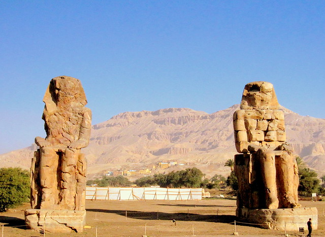 Egypt. Colossi of Memnon
