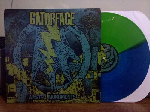 Gatorface - Wasted Monuments LP - Blue/Green Split Color Vinyl by factportugal