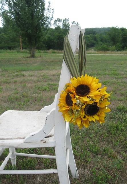Yellow Sunflower Flowergirl Wedding Pomander