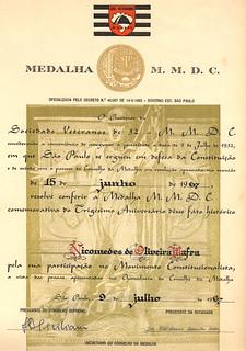 medalha MMDC