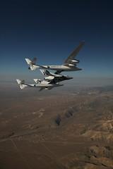 VSS Enterprise over Mojave. Photo by Mark Greenerg