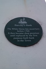 Photo of White Horse Inn, Beccles green plaque