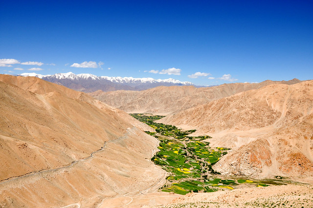 Cercanías del lago Pangong, cordillera del Himalaya.