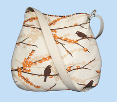 Curvy slouch fabric bag Joel Dewberry Aviary