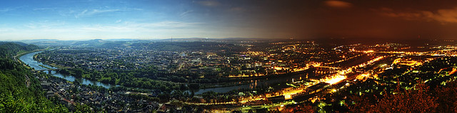 Trier - From Day to Night Panorama
