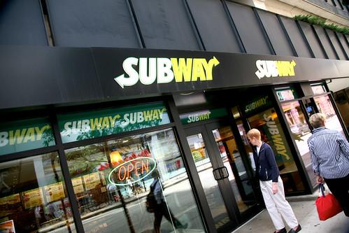 Subway Restaurant ;