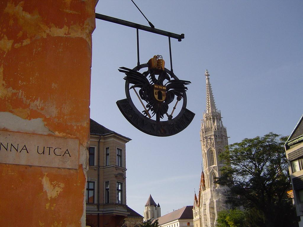 Buda: Castle Hill: Hapsburg double-eagle