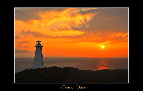 ocean sunset red sea lighthouse clouds sunrise newfoundland horizon atlantic flare cape lonely rays lantern beacon sentinel spear capespear lightstation
