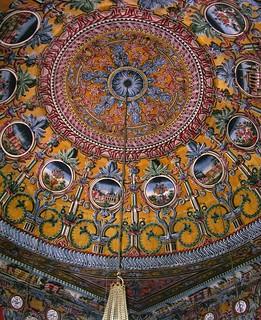 Ceiling Decoration, The Painted Mosque, Tetova, Macedonia