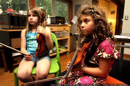 listening to rachel play the violin