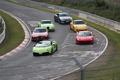 Supercar photo shoot at the Nordschleife
