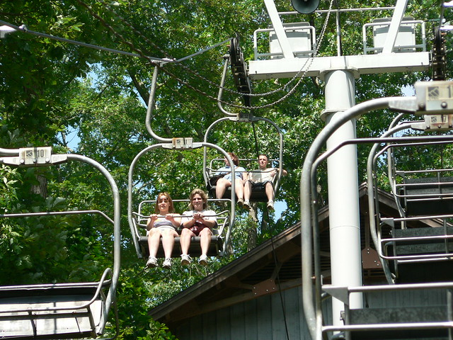 The chairlift at Natural Tunnel State Park