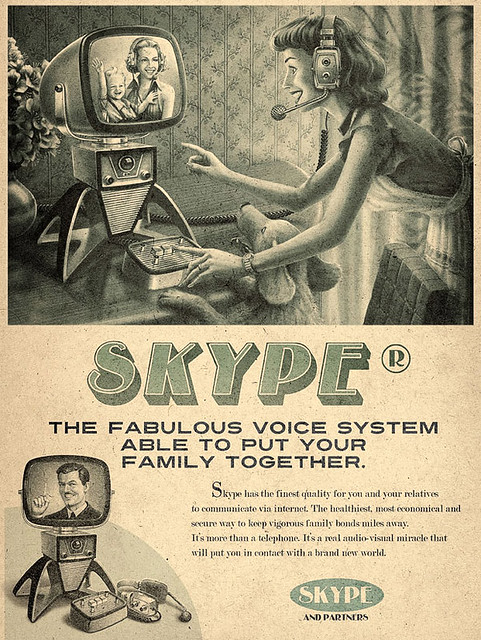 Retro Skype Advert