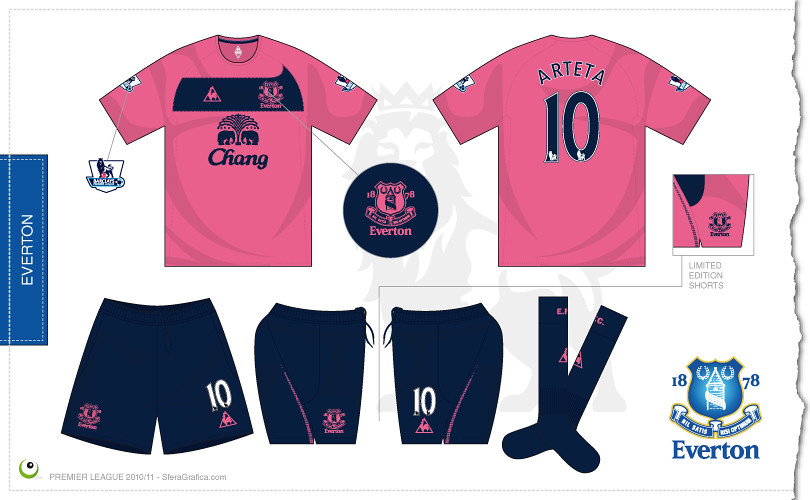 Everton away kit 2010 2011  0b308a2a3