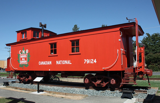 Canadian National caboose.  Duncan BC.  July 24 2010.