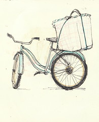 Bread delivery bike by Diane Olivier