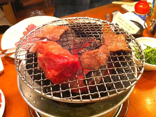 Yakiniku party at Shotaien, Machiya