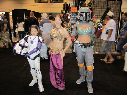 Young Clone trooper, Slave Leia, & awesome female Boba Fett (aka: babe-a-fett!)