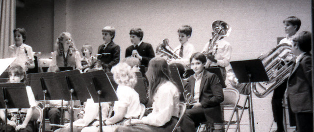 84_11.12a - The Model Middle School Band, Back Row