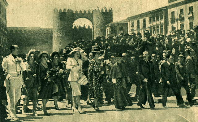 Ávila. Visita de Eva Perón.