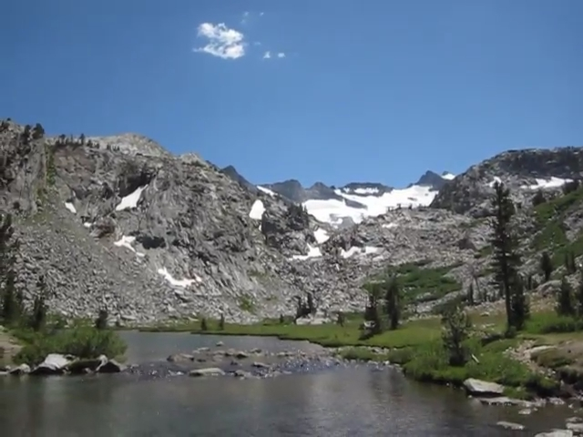 2329 Video of the Lyell Fork of the Tuolumne River where the PCT crosses