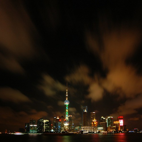 Shanghai - Amazing Night Skies over Pudong