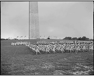 WAVES (Women Accepted for Volunteer Emergency Service) units march in precise formations during a rally at the Washington Monument grounds celebrating the second anniversary of the establishment of the corps, Washington, DC., 07/31/1944