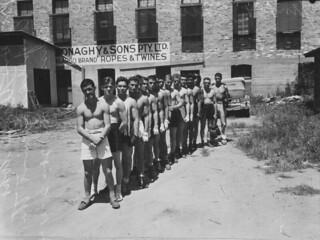 Members of the US servicemen's boxing team, Brisbane, February 1943