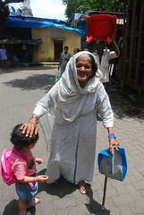 Marziya Takes The Blessings of a Grand Old Lady of Bandra by firoze shakir photographerno1