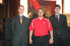 Ethan and Rick, celebrating a 1st place win at SkillsUSA state competition, with instructor, Mr. Gallagan