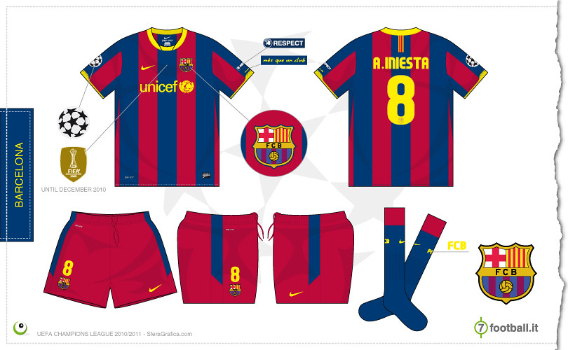 61970955b Barcelona Champions League home kit 2010 2011 - a photo on Flickriver