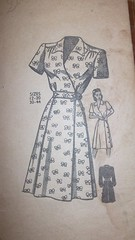 Great 1940s wrap dress pattern