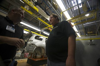 Jeff Pulver at GM Manufacturing Plant in Lansing, MI