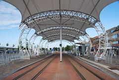 La gare futuriste de tram à Nieuwpoort Stad